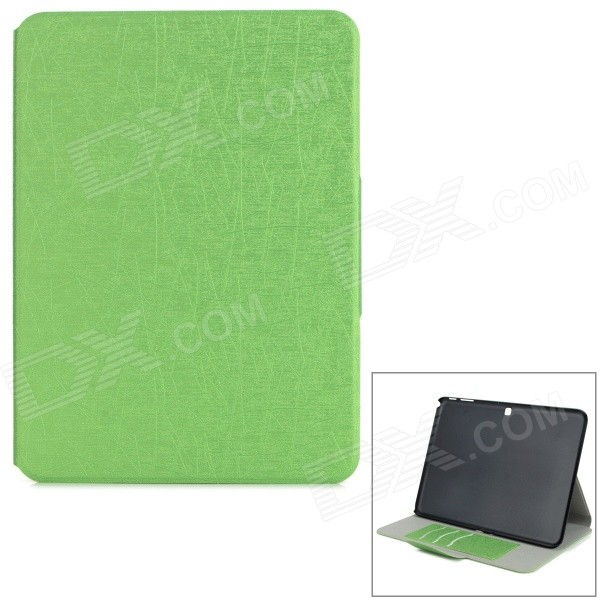 Messy Line Pattern Protective PC + PU Case w/ Stand for Samsung Galaxy Tab4 T530 10.1 - Green enkay butterfly pattern protective case w stand for samsung galaxy tab 3 lite t110 multicolor