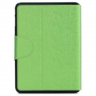 "Messy Line Pattern Protective PC + PU Case w/ Stand for Samsung Galaxy Tab4 T530 10.1"" - Green"
