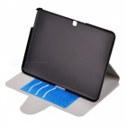 "Messy Line Pattern Protective PC + PU Case w/ Stand for Samsung Galaxy Tab4 T530 10.1"" - Deep Blue"
