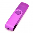 SJ-20 Ourspop Rotary 2.0 / Micro USB Flash Drive USB - Purple (8GB)