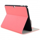 "Messy Line Pattern Protective PC + PU Case w/ Stand for Samsung Galaxy Tab4 T530 10.1"" - Pink"