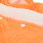 Halloween Pumpkin Devil Style Cotton Coat w / Cap for Pet Cat / Dog - Orange + svart (størrelse XL)
