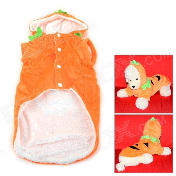 Halloween Pumpkin Devil Style Cotton Coat w/ Cap for Pet Cat / Dog - Orange + Black (Size L) футболка toy machine devil cat navy