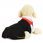 Halloween Vampire Style Autumn / Winter Cotton Coat for Pet Cat / Dog - White + Black (L)