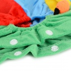 Halloween Colorful Caterpillar Style Cotton Coat for Pet Cat / Dog - Yellow + Light Blue (L)