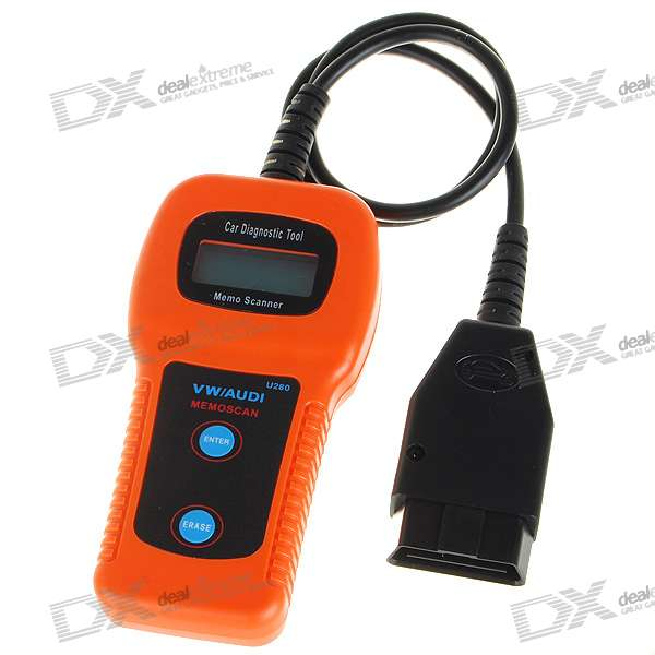 U280 1.5 LCD VW/Audi Car Diagnostic Code Reader Memo Scanner high quality vas5054a with oki full chip car diagnostic tool support uds protocol vas 5054a odis v4 13 bluetooth for audi for vw