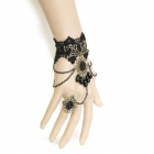 Fashionable Gothic Jewelry Bracelet Ring for Halloween / Costume Party - Black (5PCS)