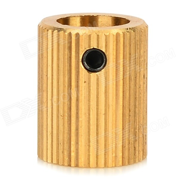 Brass Wire Feed Gear voor 3D Printer-Extruder Golden