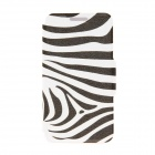 Kinston Zebra Pattern PU Leather Full Body Case with Stand for HTC One Mini M4 - White + Black