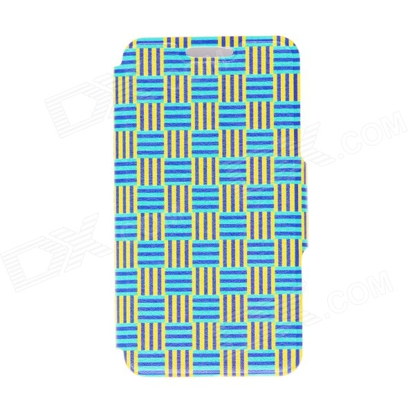 Kinston Woven Ribbon Pattern PU Leather Full Body Case with Stand for HTC One Mini M4 cute popcorn pattern tpu back case for htc one mini m4 601e blue pink