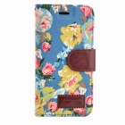 Country Style Flower Pattern Protective Flip Open PC + PU Case w/ Stand for IPHONE 6 4.7""