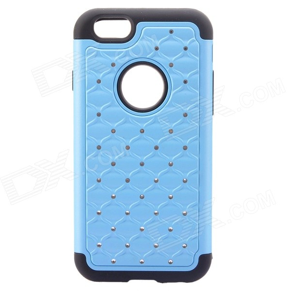 NEJE FS0002-3 Rhinestone Inlaid PC + Silicone Back Case for IPHONE 6 4.7 - Blue + Black рюкзак case logic 17 3 prevailer black prev217blk mid