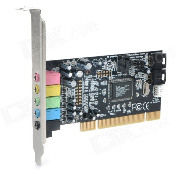 Professional Karaoke PCI 5.1 Sound Card Board Module - Black + Multi-colored