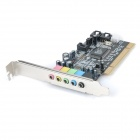 PCI Karaoke Professional 5.1 Sound Card Module Board - Preto + Multi-colorido