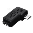 "CY U2-267-LE 90"" Angled Micro USB 2.0 5Pin M to F Adapter - Black"