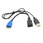 CY U3-164-BK Micro USB 3.0 OTG Host Flash Disk Cable with USB Power for Galaxy Note3 N9000