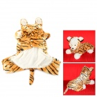 Halloween Tiger Style Cotton Coat for Pet Cat / Dog - Yellow + White (Size XL)