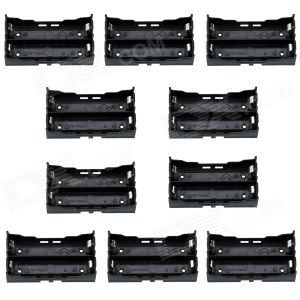 cm01-2-slot-18650-battery-case-holders-w-pin-for-pcb-more-black-10-pcs