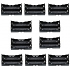 CM01 2-Slot 18650 Battery Case Holders w/ Pin for PCB + More - Black (10 PCS)