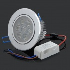 7W 560lm 6000K White Light LED Ceiling Light Lamp w/ LED Driver - Silver