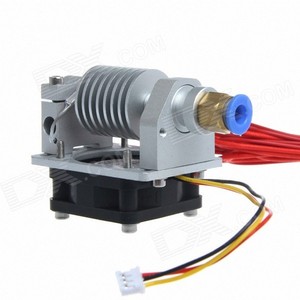 Geeetech E3D Metal J-Head w/ Cable / Cooling Fan Long-Distance 3D Printer Extruder - Silver cpu cooling conductonaut 1g second liquid metal grease gpu coling reduce the temperature by 20 degrees centigrade
