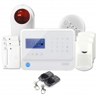 "GS-X1 2.7"" Screen APP Control 4-Channel Wireless GSM Home Alarm System - White (US Plug)"