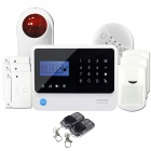 "GS-X1 2.7"" Screen APP Control 4-Channel Wireless GSM Home Alarm System - White + Black (US Plug)"