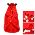 JUQI Devil Style Autumn / Winter Wear Cotton Coat for Pet Cat / Dog - Red + Black (Size M)