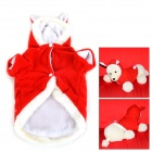 JUQI Rabbit Style Winter Wear Cotton Coat Clothes for Pet Dog / Cat - Red + White (Size S)