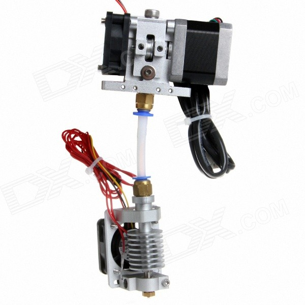 Geeetech GT9L 3D Printer Extruder Metal J-Head Nozzle Zilver (1.75mm filament-0.4mm Nozzle)