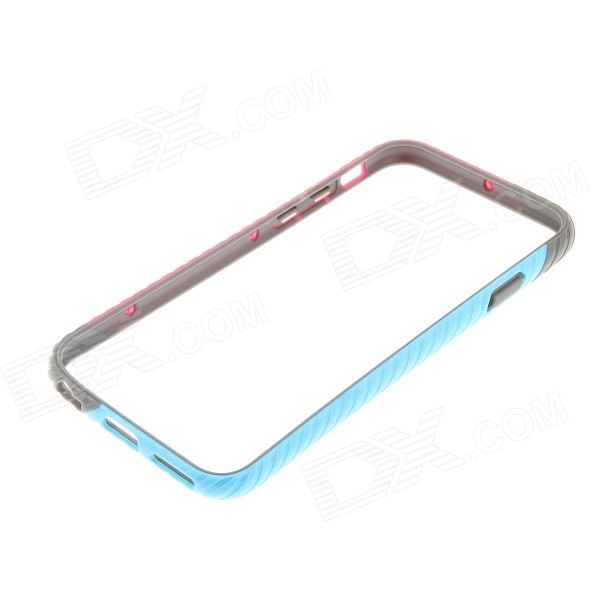 Kinston Spiral Series Bumper Frame Case for IPHONE 6 4.7 - Red + Blue coteetci w6 luxury stainless steel magnetic watchband for apple watch series 1 series 2 38mm gold