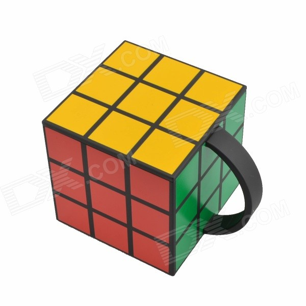 Anya Personalized Creative Magic Cube Vacuum Cup - Black + Yellow new mf8 eitan s star icosaix radiolarian puzzle magic cube black and primary limited edition very challenging welcome to buy