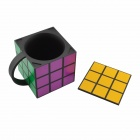 Anya Personalized Creative Magic Cube Vacuum Cup - Black + Yellow