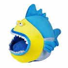 YDL-WA3003-M Fashionable Shark Style Nest Bed for Pet Cat / Dog - Blue + Yellow + White (Size M)