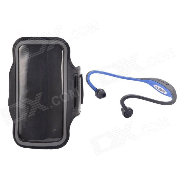 "NEJE Waterproof Sports Armband Case + Hands-free Stereo Headset for IPHONE 6 4.7"" - Black"