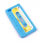 PANNOVO Unique Retro Cassette Pattern Protective Silicon Back Case for IPHONE 5 / 5S - Blue