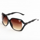 Women's Fashion Retro Style PC Frame PC Lens UV400 Protection Sunglasses - Black