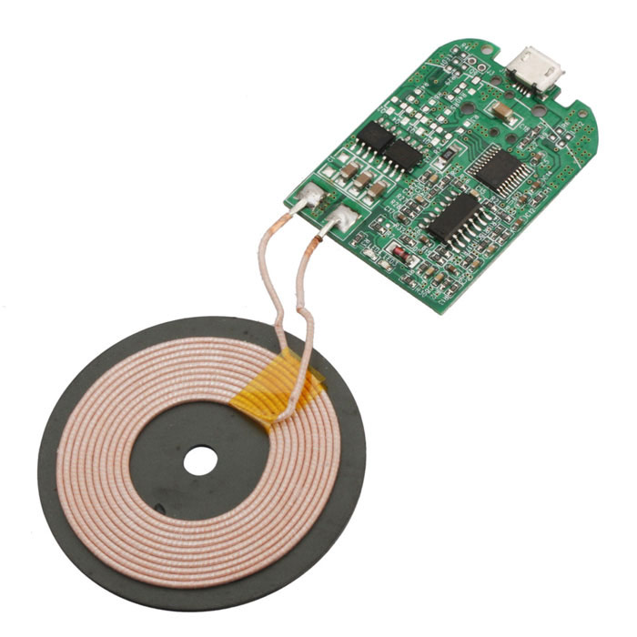QI Wireless Charger PCBA Circuit Board - Green professtional printed circuit board assembly electronic pcb assembly service pcba manufacturer pcba