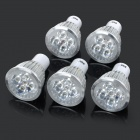 JRLED GU10 5W 330lm 6500K White Light LED Spotlight Lamp - Silver + White (AC 85~265V / 5PCS)