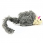 Cute Mouse Style Cotton + PVC Cat Toy - Grey + White
