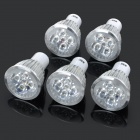 JRLED GU10 5W 330lm 3300K Warm White Light LED Spotlight Lamp - Silver + White (AC 85~265V / 5PCS)