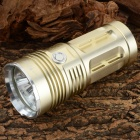 1500lm 3-Mode White Flashlight w/ 3 x XM-L T6 LED - Light Golden (4 x 18650)