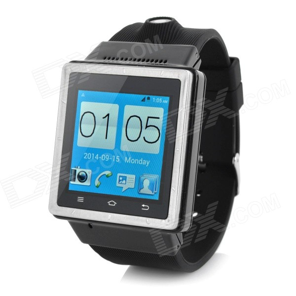 ZGPAX S6 1.54 Touch Screen Dual Core Android 4.0 3G Smart Phone Watch w/ Camera, Wi-Fi - Black (EU) i5 gsm wrist watch phone w 1 8 resistive screen quad band single sim and fm black