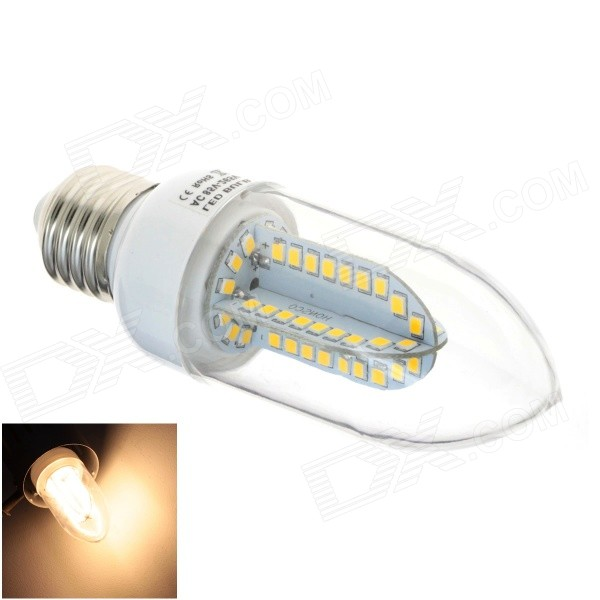 HONSCO E27 5W 84-SMD 2835 LED 400lm 3000K Warm White Light LED Candle Bulb (AC 85~265V)