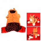 Halloween David's Deer Style Autumn / Winter Cotton Coat for Pet Cat / Dog - Orange + Red (L)