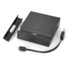 USB Port Charging Dock Station w/ Charging Data Cable for Sony Xperia Z2a - Black