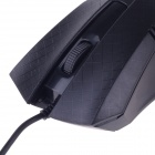 JM-312 Stylish Checked Pattern USB 2.0 Wired 1200 dpi Gaming Mouse - Black