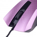 JM-312 Modelo elegante Chequeado USB 2.0 con cable 1200 dpi Gaming Mouse - Purple