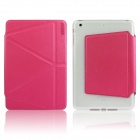 ENKAY Auto Sleep / Wake-up Protective Case w/ Folding Stand for IPAD MINI / MINI 2 - Deep Pink