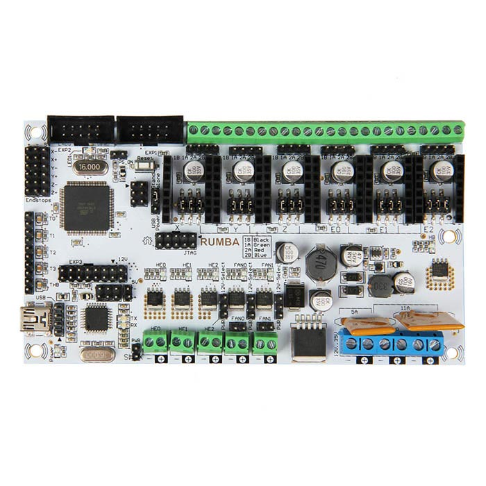 Geeetech Rumba Atmega2560 3D Printer Controll Board - White + Black ipc board pia 662 sent to the cpu memory used disassemble